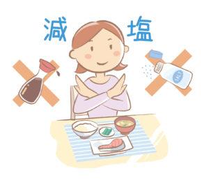 塩分の多い食事を避ける