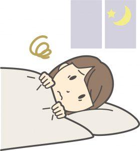 寝つきの悪い女性