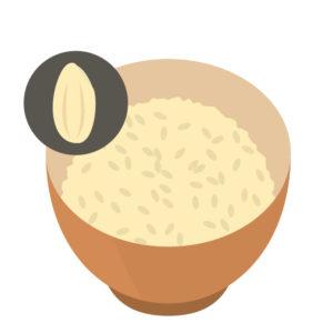 血糖値の急激な上昇を抑え、マグネシウムをバランスよく摂れる玄米ご飯。高血圧症の方に食べて欲しい。