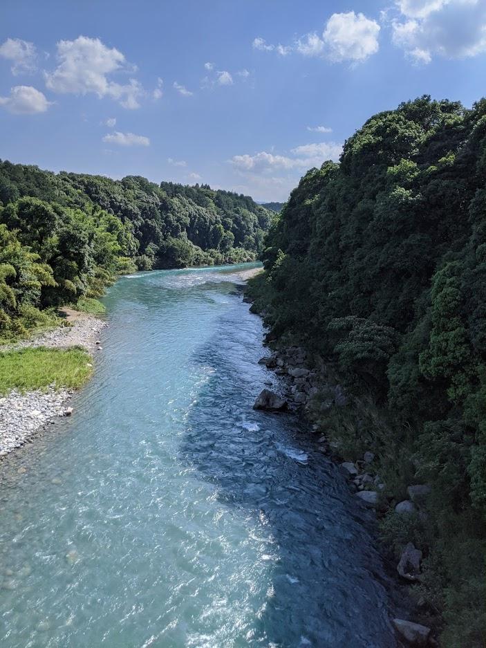 豪雨前の川辺川